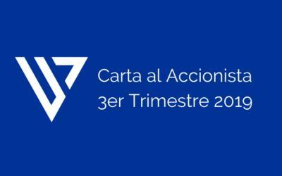 Carta al accionista – 3er Trimestre 2019