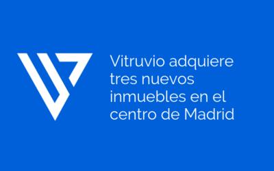 Vitruvio adquiere tres nuevos inmuebles en el centro de Madrid