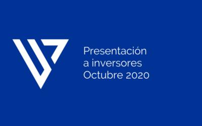 Presentación a inversores – Octubre de 2020